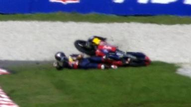 Sepang 2011 - 125cc - FP3 - Action - Danny Kent - Crash