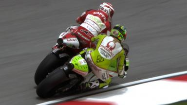 Sepang 2011 - MotoGP - QP - Action - Barbera and Capirossi