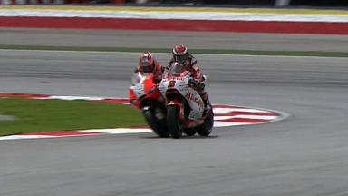 Sepang 2011 - MotoGP - QP - Action - Barbera and Hayden