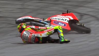 Sepang 2011 - MotoGP - QP - Action - Valentino Rossi - Crash
