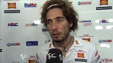 Simoncelli on qualifying on 2nd row