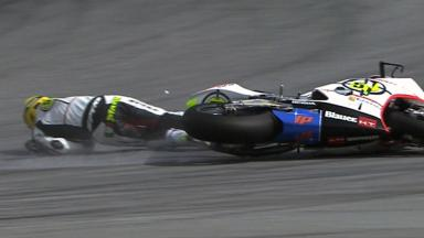 Sepang 2011 - Moto2 - QP - Action - Michelle Pirro - Crash