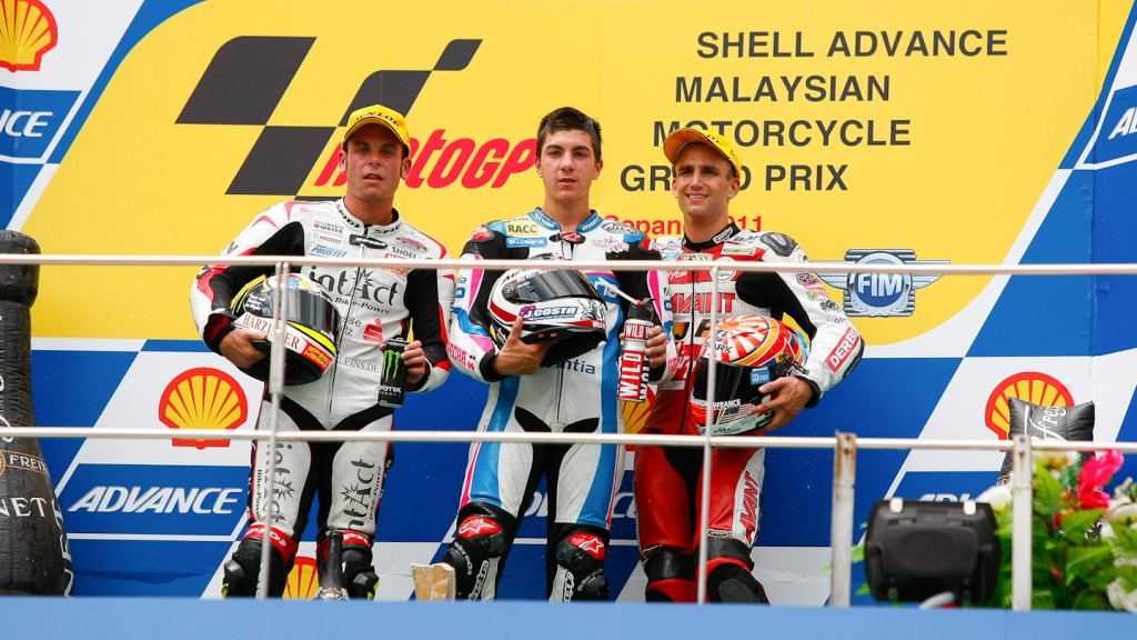 Cortese, Viñales, Zarco, Intact-Racing Team Germany, Blusens by Paris Hilton Racing, Avant-AirAsia-Ajo, Sepang RAC