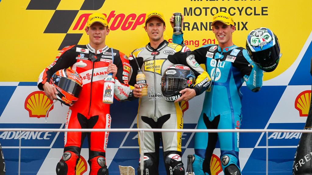 Bradl, Luthi, Espargaro, Viessmann Kiefer Racing, Interwetten Paddock Moto2, HP Tuenti Paddock Moto2, Sepang RAC