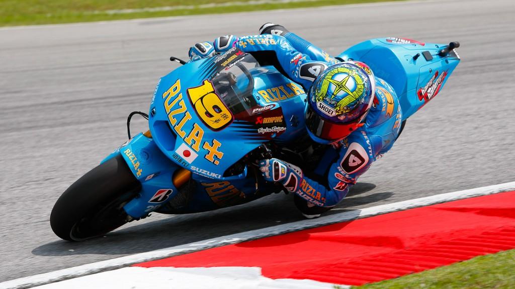 Alvaro Bautista, Rizla Suzuki MotoGP, Sepang WUP