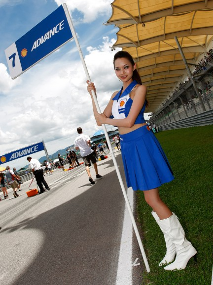 Paddock Girl Shell Advance Malaysian Motorcycle Grand Prix
