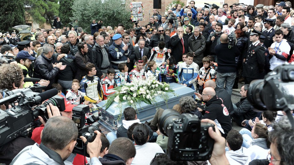 Marco Simoncelli´s Funeral