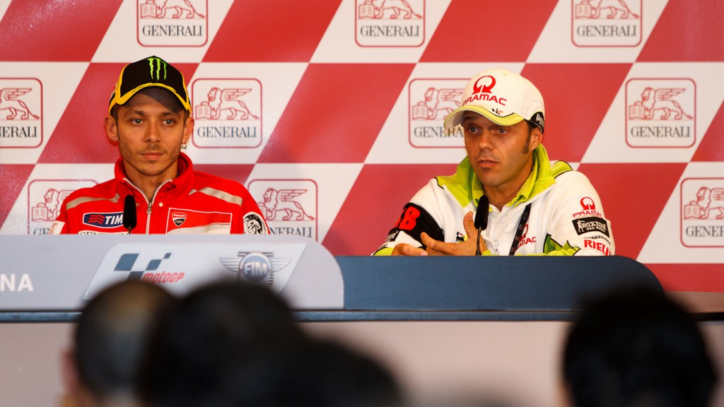 Valentino Rossi, Ducati Team, Loris Capirossi, Pramac Racing Team, Gran Premio Generali de la Comunitat Valenciana Press Confere