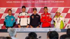Bautista, Spies, Stoner, Rossi, Capirossi, Gran Premio Generali de la Comunitat Valenciana Press Conference