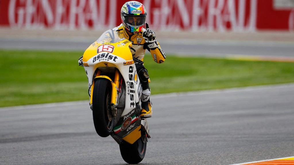 Alex de Angelis, JiR Moto2, Valencia FP2