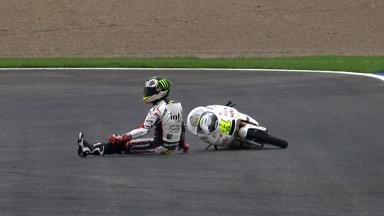 Valencia 2011 - 125cc - FP1 - Action -Sandro Cortese - Crash