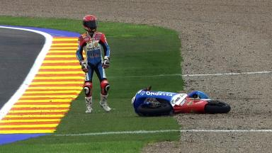 Valencia 2011 - 125cc - FP1 - Action - Jasper Iwema - Crash