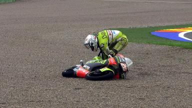 Valencia 2011 - 125cc - FP1 - Action - Adrián Martín - Crash