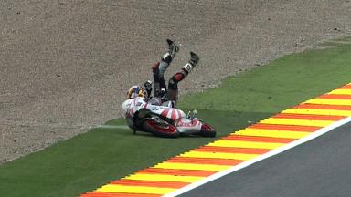Valencia 2011 - 125cc - FP1 - Action - Marcel Schrotter - Crash