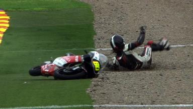 Valencia 2011 - 125cc - FP1 - Action - Manuel Tatasciore - Crash