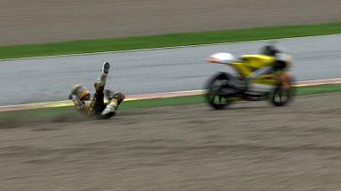 Valencia 2011 - 125cc - FP2 - Action - Alberto Moncayo - Crash