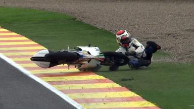 Valencia 2011 - 125cc - FP2 - Action - Alessandro Tonucci - Crash