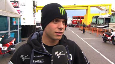 Valencia 2011 - 125cc - FP2 - Interview - Sandro Cortese
