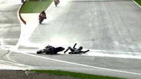 Valencia 2011 - MotoGP - FP2 - Action - Karel Abraham - Crash
