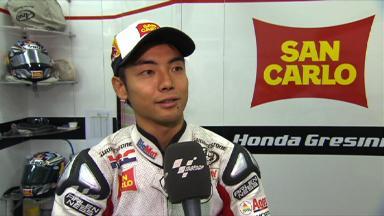 Aoyama on emotional Valencia GP