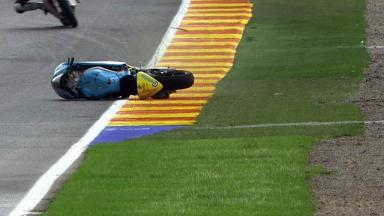 Valencia 2011 - Moto2 - FP2 - Action - Joan Olivé - Crash