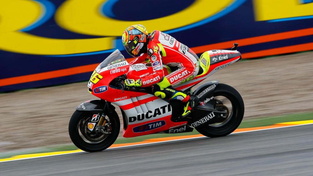 Valentino Rossi, Ducati Team, Valencia FP2