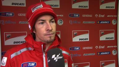 Nicky Hayden reflects on a positive first day in Valencia