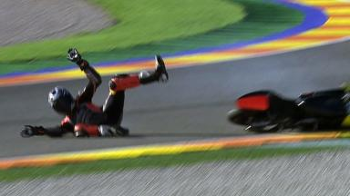 Valencia 2011 - 125cc - FP3 - Action - Jack Miller - Crash