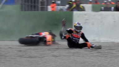 Valencia 2011 - MotoGP - QP - Action - Andrea Dovizioso - Crash