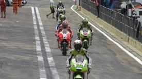 Casey Stoner stormed to his 12th pole position of the season with a dominating performance in the final qualifying of 2011 at the Gran Premio Gernerali de la Comunitat Valenciana. The World Champion lapped a second quicker than Dani Pedrosa and third place qualifier Ben Spies.