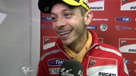 Rossi reviews Valencia qualifying performance