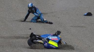Valencia 2011 - Moto2 - FP3 - Action - Valentin Debise - Crash