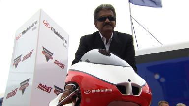 Anand Mahindra unveils Moto3 project