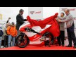 The unveiling of the Mahindra MGP30 Moto3 bike at Valencia