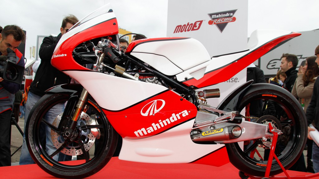 The 2012 Mahindra MGP30 Moto3 bike