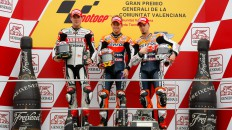 Spies, Stoner, Dovizioso, Yamaha Factory Racing, Repsol Honda Team, Valencia RAC