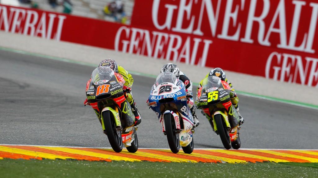 Terol, Viñales, Faubel, Bankia Aspar team 125cc, Blusens by Paris hilton Racing, Valencia RAC