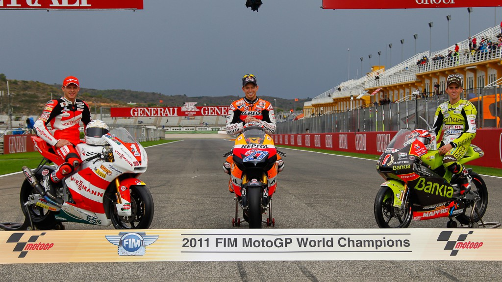 2011 World Champions Bradl, Stoner, Terol, Valencia