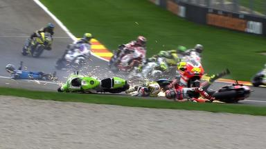 Valencia 2011 - MotoGP - Race - Action - Multiple Crash