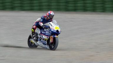 Valencia 2011 - Moto2 - Race - Action - Esteve Rabat - Crash
