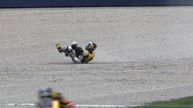Valencia 2011 - Moto2 - Race - Action - Scott Redding - Crash