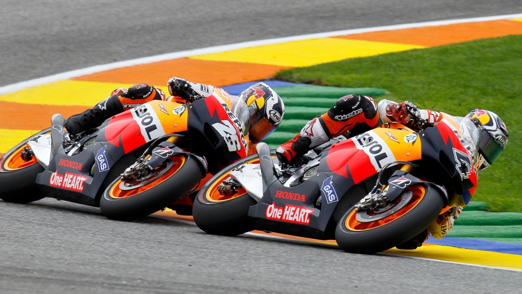 Andrea Dovizioso, Dani Pedrosa, Repsol Honda Team, Valencia RAC