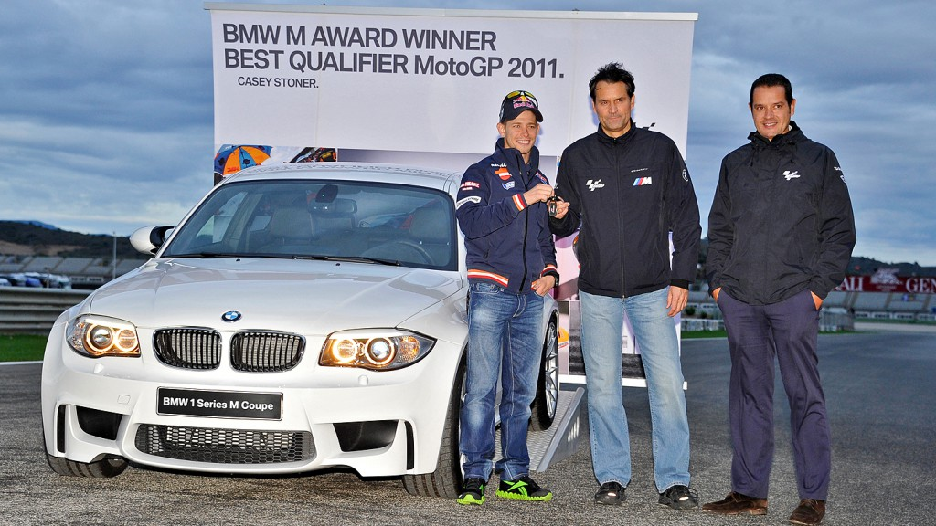 BMW M Award Winner, best qualifier MotoGP 2011