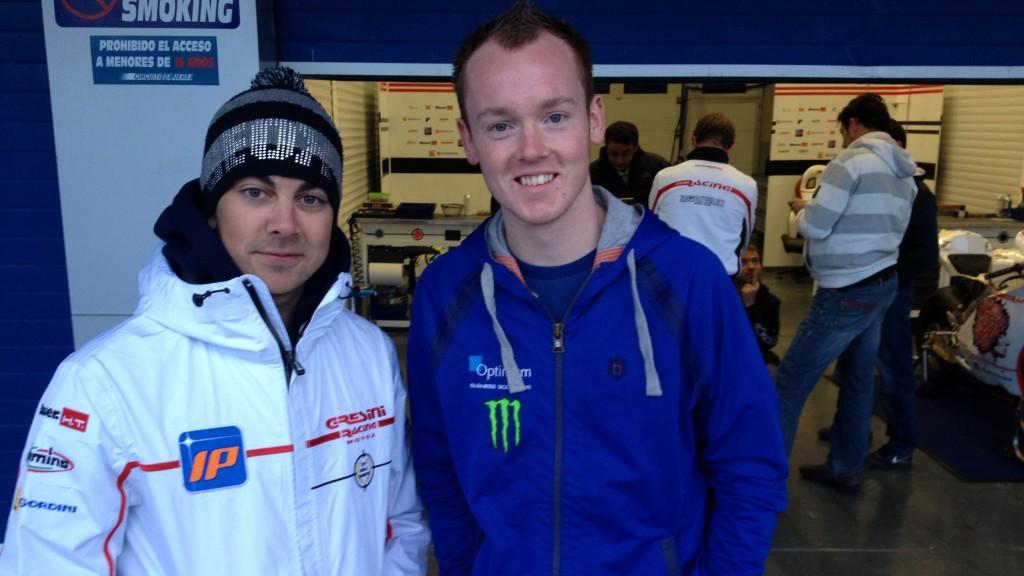 Gino Rea, Bradley Smith, Jerez Moto2 Test