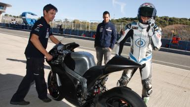 Ivan Silva, BQR Jerez Moto2 Test