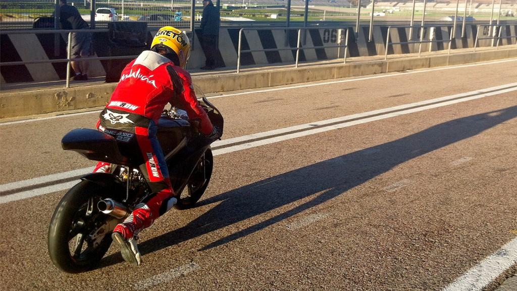 Alberto Moncayo, Moto2 Valencia Test