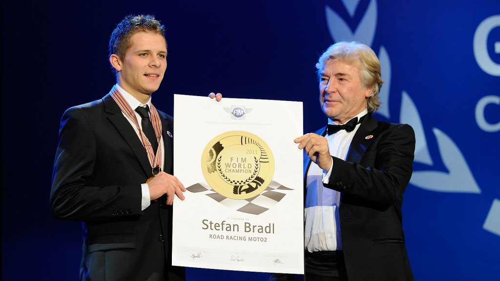 Stefan Bradl, Angel Nieto, 2011 FIM Gala Ceremony, Estoril