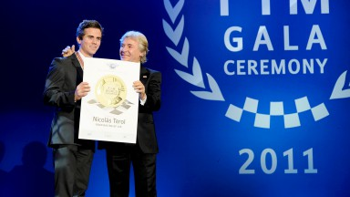 Nico Terol, Angel Nieto, 2011 FIM Gala Ceremony, Estoril