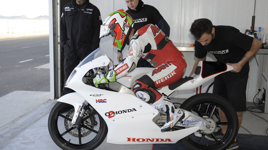 Efrén Vázquez. Honda Moto3. Almeria Circuit