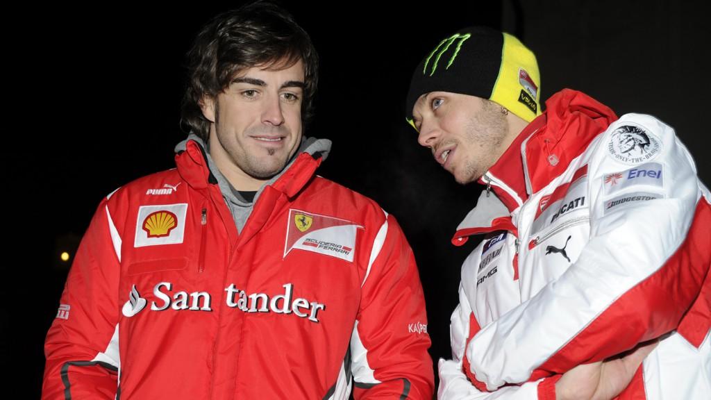 Fernando Alonso, Valentino Rossi - Wrooom 2012